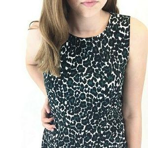 J Crew leopard print dress